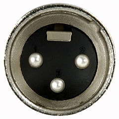DAP XLR 3p. Connector Male, Nickel housing