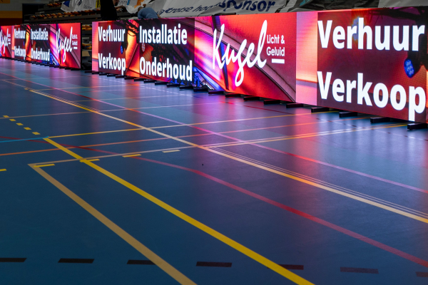 DMT Premiere Series LED panels at Dutch Volleyball championship