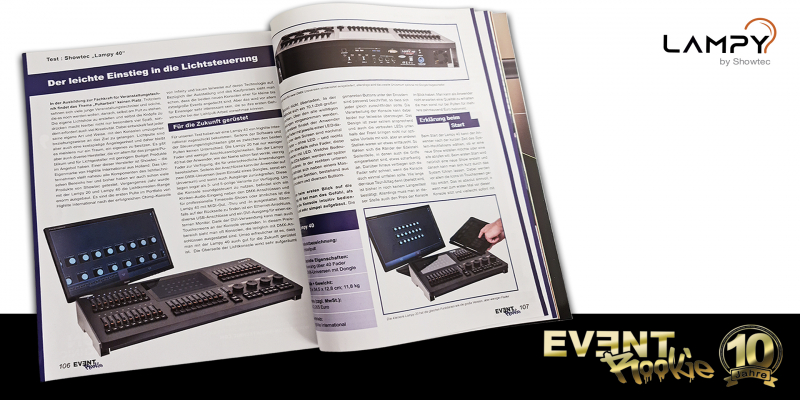 Lampy 40 tested in German magazine Eventrookie