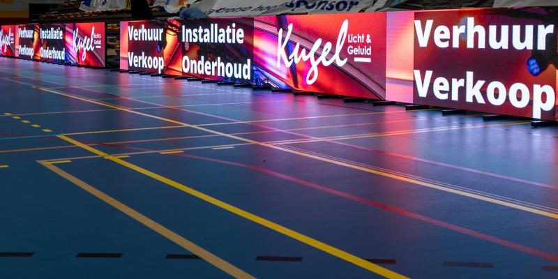 Paneles LED DMT Premiere Series en el campeonato de voleibol de Holanda